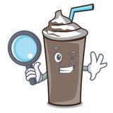侦探冰巧克力字符动画片 库存例证