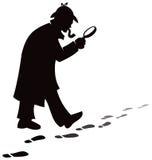 侦探搜寻 免版税库存图片