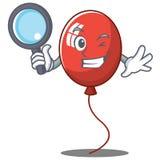 侦探气球字符动画片样式 免版税库存图片
