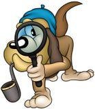 侦探狗 库存图片