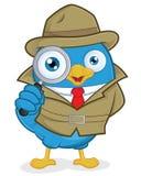 侦探蓝色鸟 库存照片