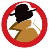 侦探间谍 免版税库存图片