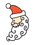 侧视图圣诞老人 免版税库存照片