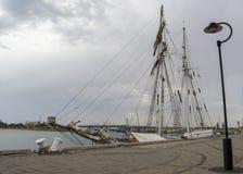 侧视图:高船一和全部,口岸阿德莱德, SA 库存照片