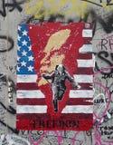 绘侧面墙的柏林东部画廊 免版税库存照片