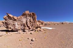 侵蚀雕刻的岩石 库存照片