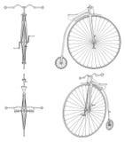 便士极少量自行车例证传染媒介 库存例证