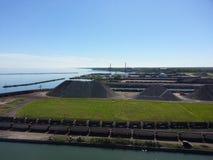 便士船坞Ashtabula港口 免版税库存图片