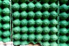 便宜的吸音板的空的蛋纸盒用途 免版税库存照片