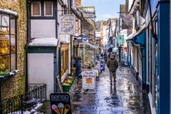 便宜的街道Frome在冬天 库存图片