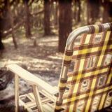 轻便折椅Instagram样式 免版税图库摄影