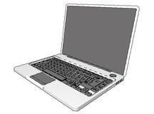 便携式的个人计算机 免版税库存照片