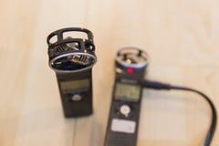 便携式的数字式声音记录器 免版税库存图片