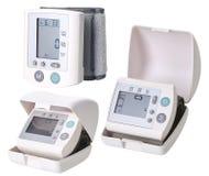 便携式的数字血压显示器 免版税库存图片