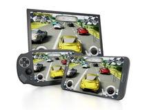 便携式的电子游戏设备 免版税库存图片