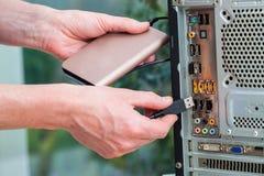 便携式的硬盘 免版税库存图片