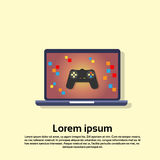 便携式计算机电子游戏控制台 免版税库存图片