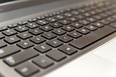 便携式计算机键盘特写镜头 图库摄影