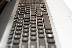 便携式计算机键盘特写镜头 库存照片
