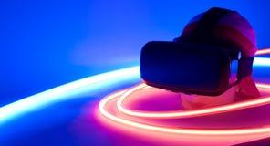 便携VR的虚拟现实 免版税库存照片