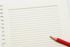 便条纸和铅笔 免版税库存图片