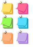便条纸彩色组 库存图片