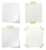 便条纸白色 免版税库存照片