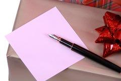 便条纸笔 免版税库存照片