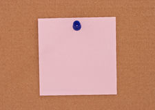便条纸粉红色 库存照片