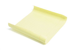 便条纸页黄色 库存照片