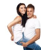 便衣夫妇愉快的年轻人 库存图片