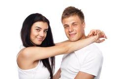 便衣夫妇愉快的年轻人 免版税库存图片
