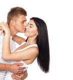 便衣夫妇愉快的年轻人 免版税图库摄影