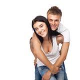 便衣夫妇愉快的年轻人 图库摄影