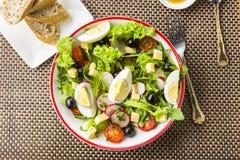 便餐-与rucola的沙拉 免版税库存照片