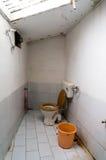 促进卫生学的小室内洗手间 图库摄影