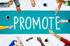 促进商务公告营销产品概念 免版税库存图片