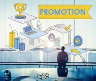 促进营销广告烙记的销售概念 免版税库存图片