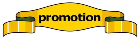 促销丝带称谓黄色 免版税图库摄影