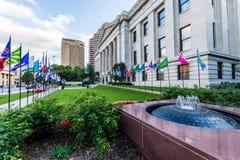 俄亥俄州议会议场在哥伦布,俄亥俄 免版税库存照片