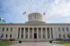 俄亥俄州议会议场日间修造状态的国会大厦 免版税图库摄影