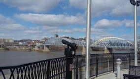 俄亥俄桥梁 图库摄影