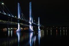 俄亥俄河桥梁 免版税库存图片
