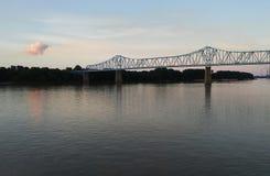 俄亥俄河桥梁 库存照片