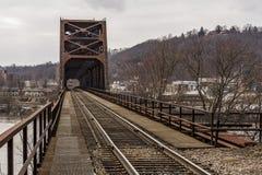 俄亥俄河桥梁- Weirton、西维吉尼亚和Steubenville,俄亥俄 库存照片