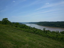 俄亥俄河从俯视 库存图片