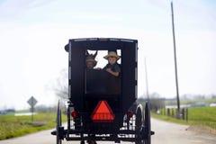 俄亥俄的门诺派中的严紧派的国家安曼人运输 免版税图库摄影