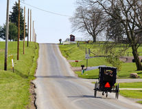俄亥俄的门诺派中的严紧派的国家安曼人运输 库存照片
