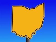 俄亥俄符号警告 库存图片