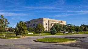 俄克拉何马司法中心在俄克拉何马市-俄克拉何马市-俄克拉何马- 2017年10月18日 库存图片